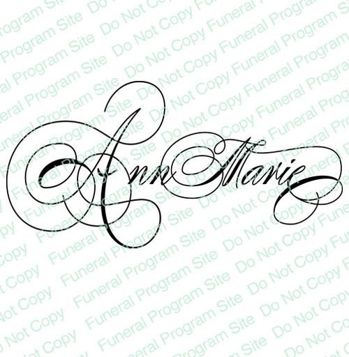 Ann Marie Name Word Art Name Design Template