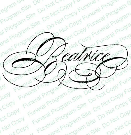 Beatrice Name Word Art Name Design Template