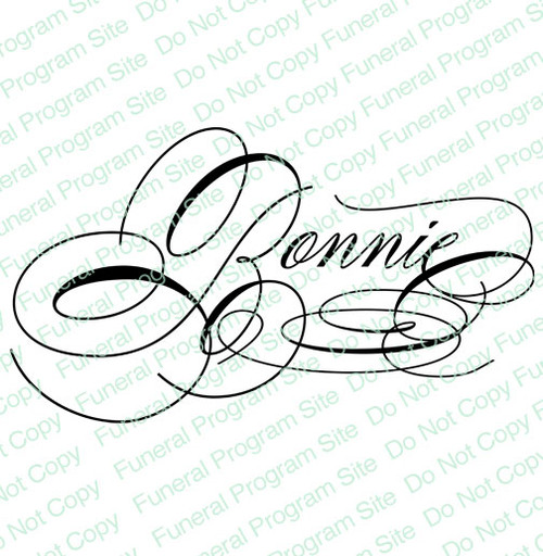 Bonnie Name Word Art Name Design Template