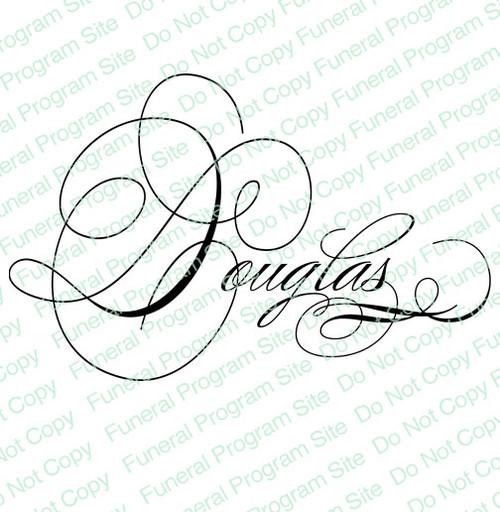 Douglas Word Art Name Design