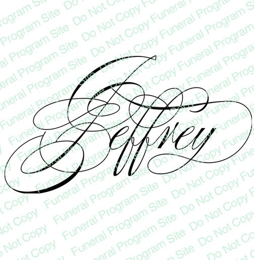 Jeffrey Word Art Name Design