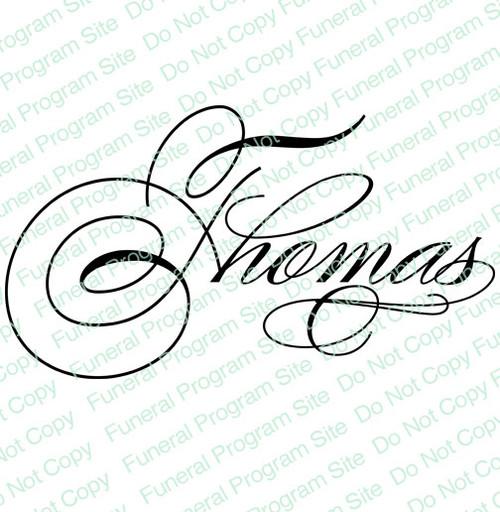 Thomas Name Word Art
