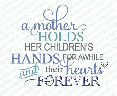 A Mother's Hold Word Art Title