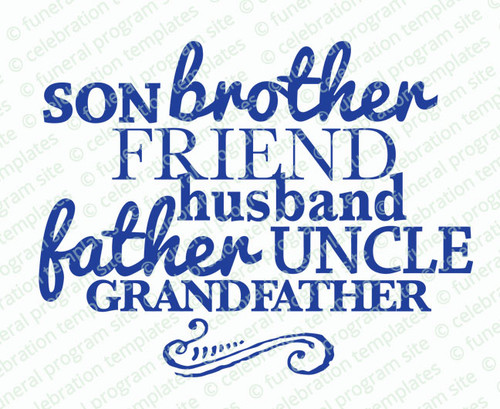 Son Brother Word Art Title