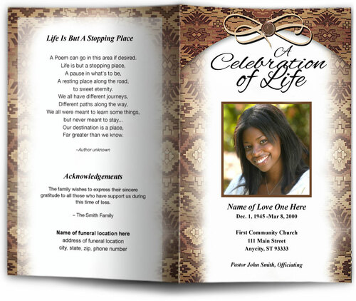 messenger funeral program template