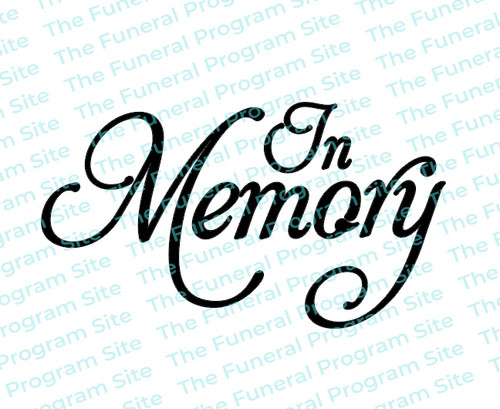 In Memory Funeral Program Title