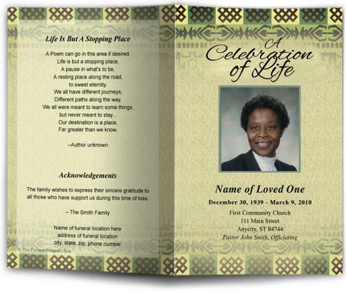 redeemed funeral program site