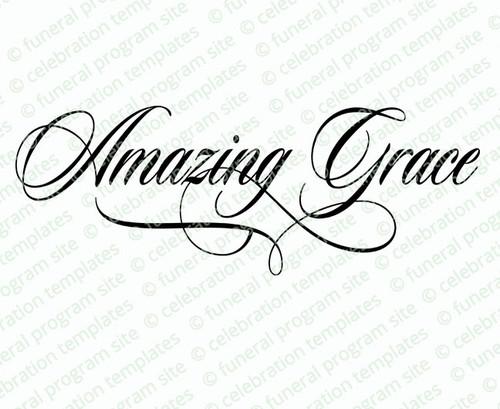 Amazing Grace Bible Verse Word Art