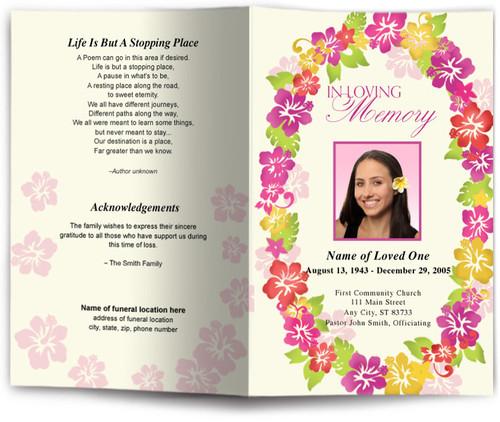 aloha funeral program site