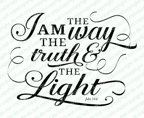 I Am The Way Bible Verse Word Art