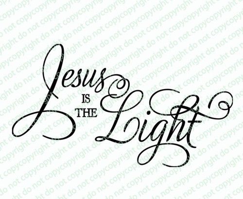 Jesus Is The Light Bible Verse Word Art