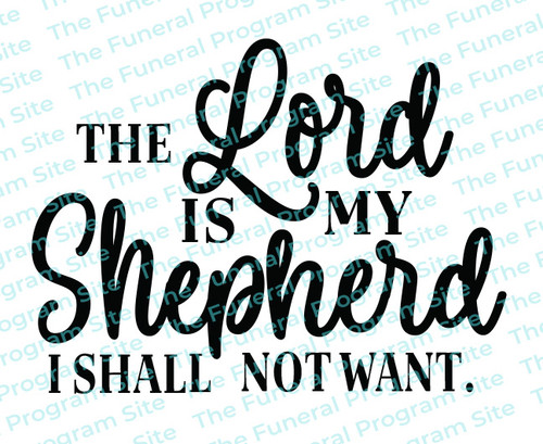 The Lord Is My Shepherd Bible Verse Word Art