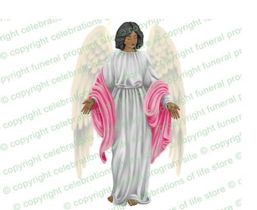 Angelina Angel Vector Clip Art  dark skin