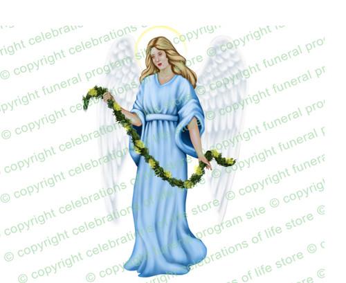 Charity Angel Funeral Clip Art light skin