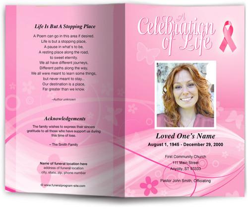 awareness funeral program site