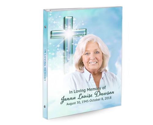 Adoration 3-Ring Book Binder Memorial Funeral Guest Book