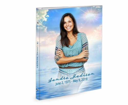 Starlight 3-Ring Book Binder Funeral Guest Book