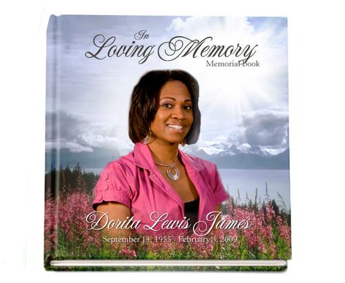 Custom Hardcover Perfect Bind Memorial Guest Book