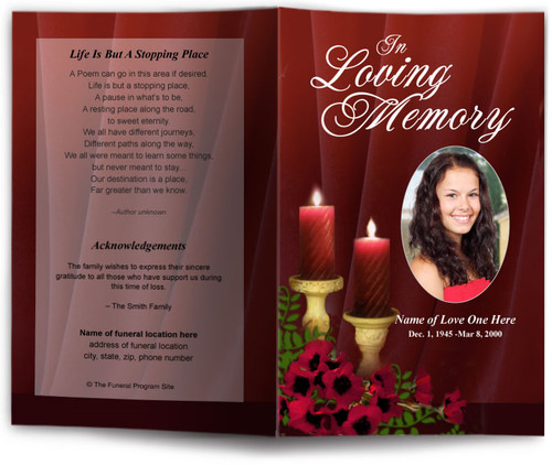 candlelight funeral program template
