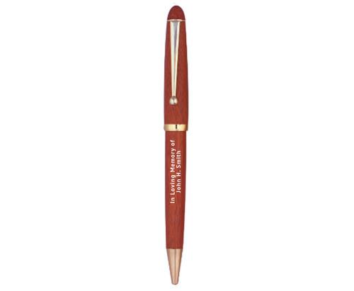 In Loving Memory Rose Wood Memorial Pens