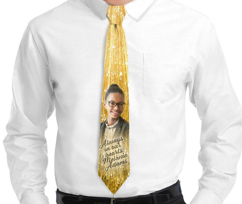 24k In Loving Memory Mens Personalized Necktie