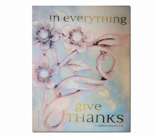 Give Thanks Faith Religious Inspirational Canvas Art