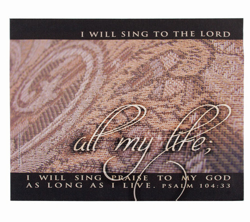 Sing Praise Spiritual Inspirational Canvas Art