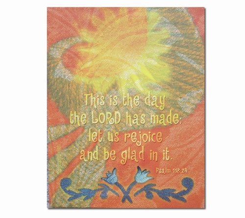 This Is The Day Faith Inspirational Canvas Art