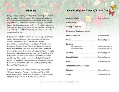 fields inside view funeral program template