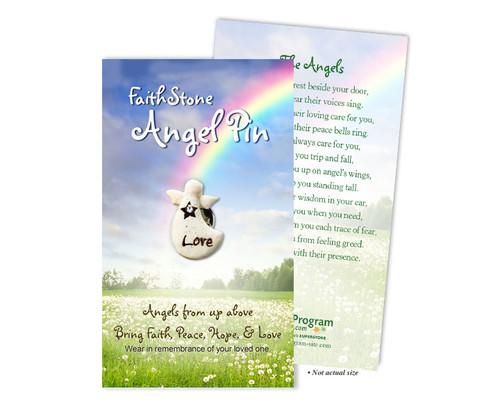 In Loving Memory Memorial Faithstone Angel Pins