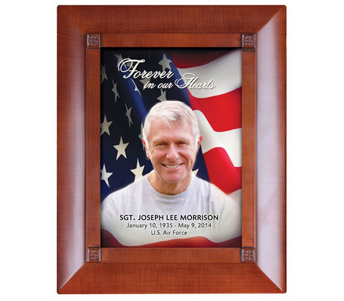 U.S. Flag Patriotic Large Memorial Keepsake Box