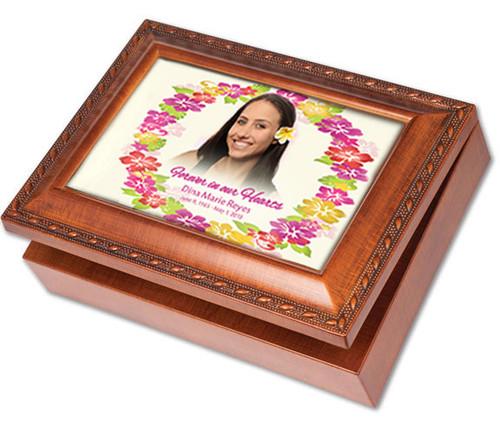 Aloha Wooden Music Memorial Keepsake Box