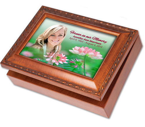 Ambrosia Wooden Music Memorial Keepsake Box