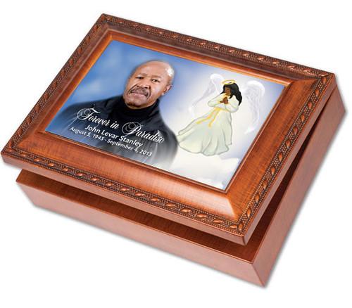 Angel Keepsake & In Loving Memory Memorial Music Box