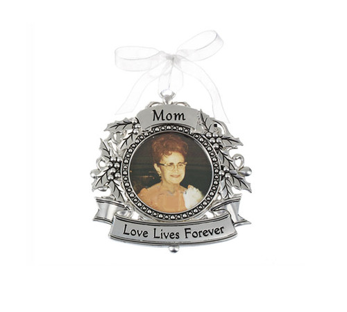 Mom Silver In Loving Memory Christmas Ornaments