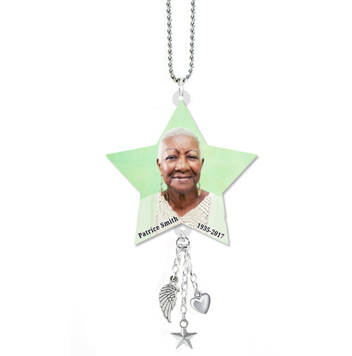 Star In Loving Memory Memorial Car Charms