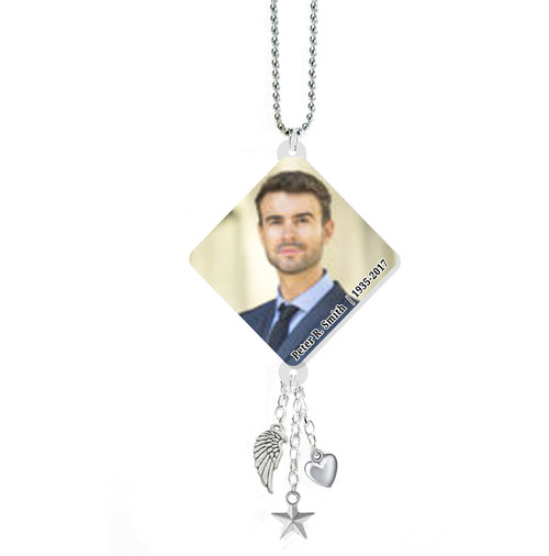 Triangle In Loving Memory Memorial Car Charms
