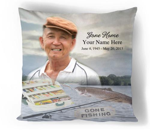 Angler In Loving Memory Memorial Pillows