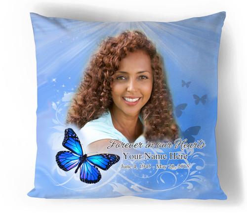 Butterfly Memorial In Loving Memory Memorial Pillow