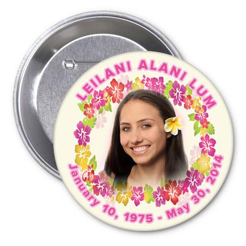 Aloha Memorial Buttons