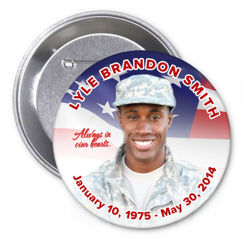 America Memorial Button Pins