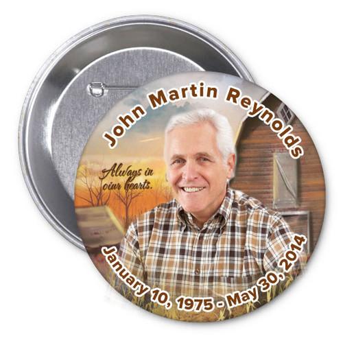 Barn Memorial Button Pins