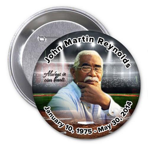Baseball Memorial Button Pins   Funeral Program Site