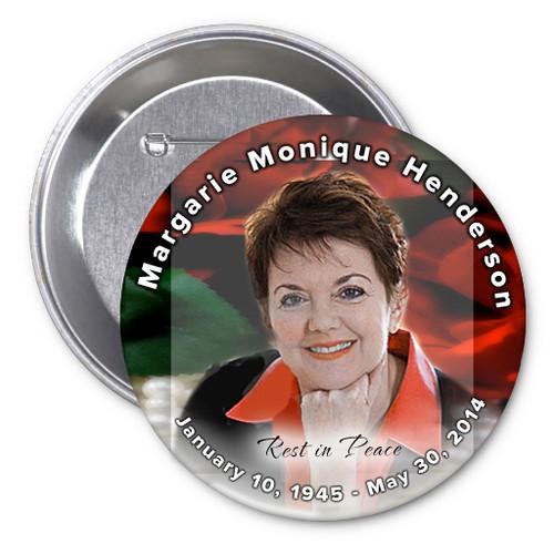 Elegance In Loving Memory Memorial Button Pins