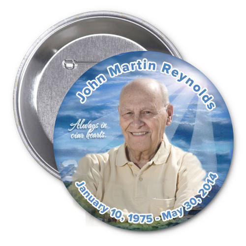Outdoor In Loving Memory Memorial Button Pins