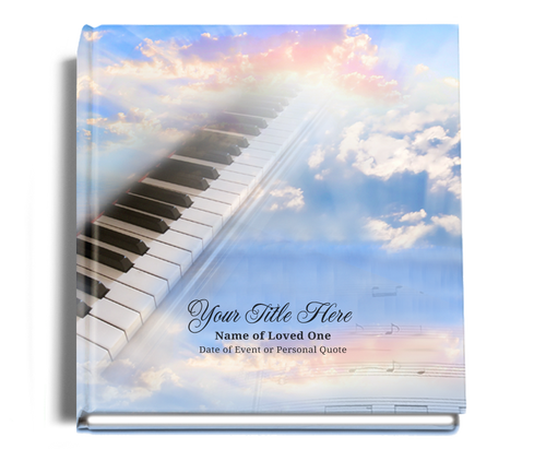 ivory personalized funeral guest book