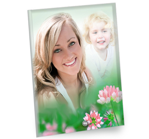 Ambrosia In Loving Memory Beveled Glass Memorial Portrait