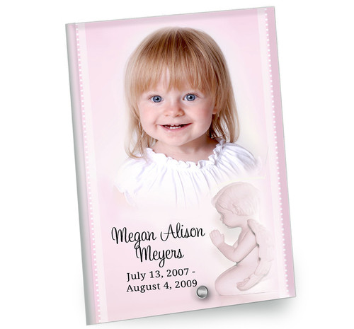 Angela In Loving Memory Beveled Glass Memorial Portrait