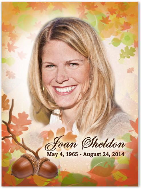Autumn Memorial Portrait Poster