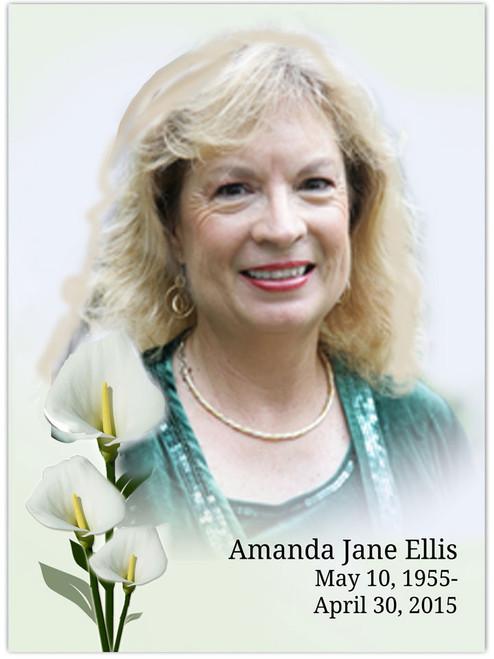 Calle In Loving Memory Memorial Portrait Poster